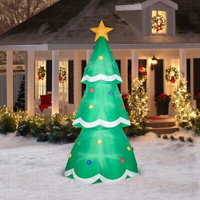 Holiday Yard Decor 8/' Erin/'s Holiday Home Christmas Tree Airblown Inflatable