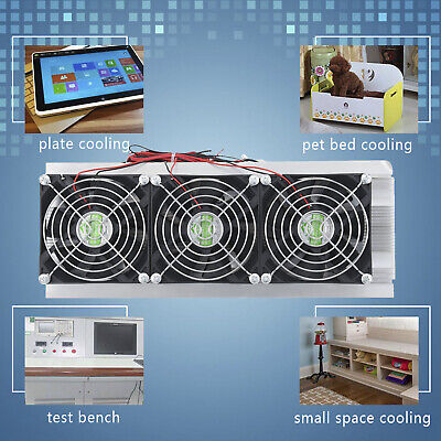 180W pRO Trinuclear Thermoelectric Peltier Refrigeration Air Cooling System Kit~