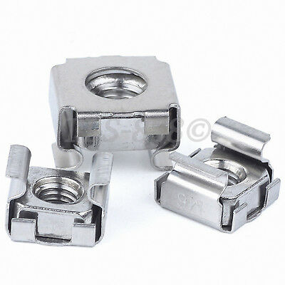 Cage Nuts SUS 201 Stainless Server Rack Mount Cabinet Pc Clip Nut M4 M5 M6 M8