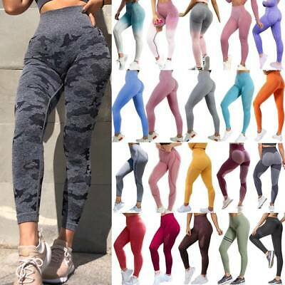 Women Yoga Seamless Pants Sport High Waist Leggings Fitness Gym Running Trousers