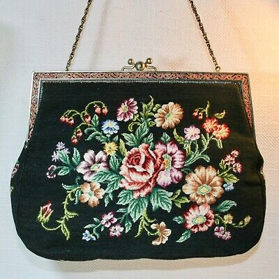 Antik Handtasche ART NOUVEAU EVENING BAG VIENNA Petit Point  Sac à main