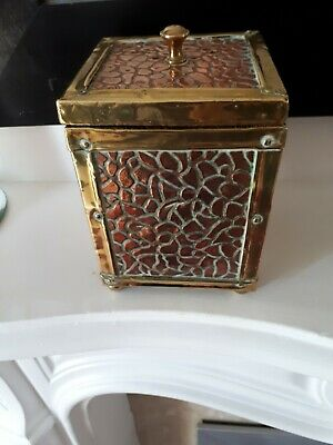 Arts And Crafts copper and brass Tea Caddy