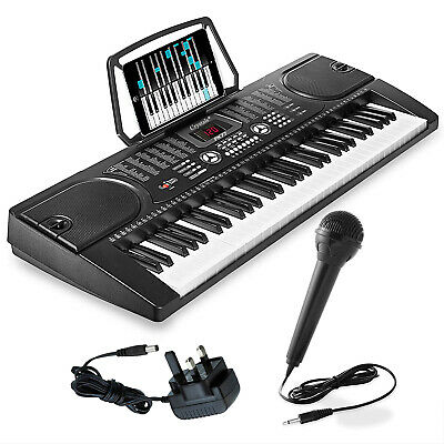61 Keys Electronic Teaching Keyboard Digital Music Piano Instrument & Microphone