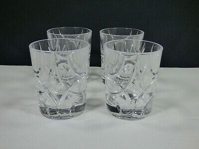 "Set Of 4 - Ralph Lauren Crystal Royalton 3-7/8"" Double Old Fashioned Glasses"
