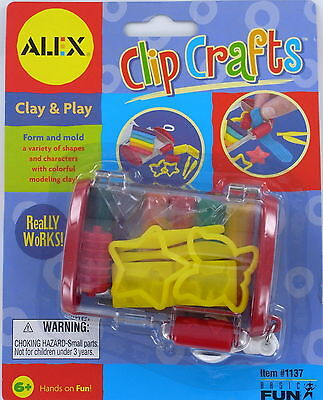 ALEX Clip Crafts CLAY & PLAY Kit Shapes Mold Cutter Mini Clip-on Retired NEW