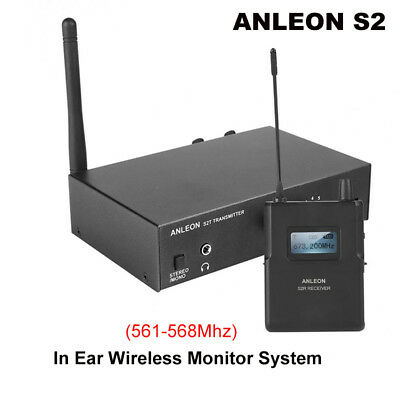 ANLEON S2 UHF Stereo Monitor System Wireless In-ear Stage Digital LED Receiver