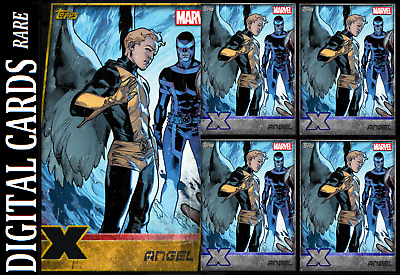 TOPPS MARVEL COLLECT CARD TRADER X-MEN ANGEL GOLD DIE-CUT & SILVER 4x