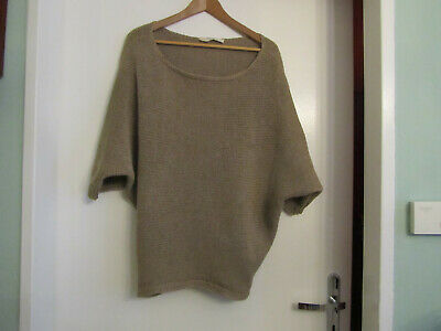 Zara Knit Strick Pailletten Shirt L