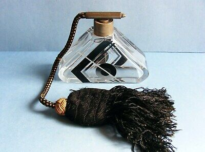 Art Deco Original 1930's Glass Scent Bottle / Vintage Antique Perfume Atomizer