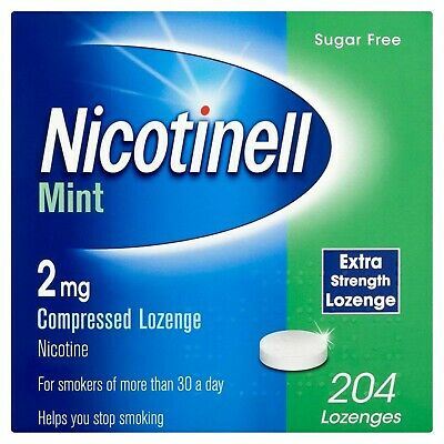 Nicotinell Nicotine Lozenge Stop Smoking Aid 2 mg Mint Sugar Free 204 Pieces