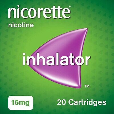 Nicorette Inhalator, 15 mg, 20 Cartridges (Stop Smoking Aid)