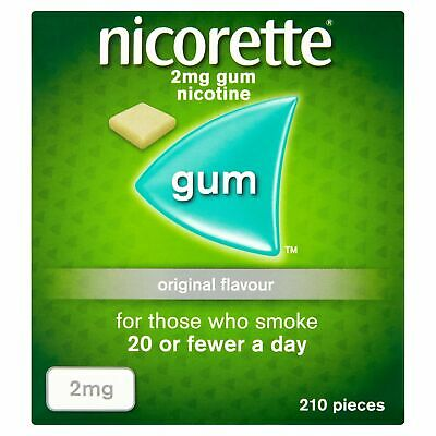 Nicorette Original Chewing Gum, 2 mg, 210 Pieces (Stop Smoking Aid) - Packagi...