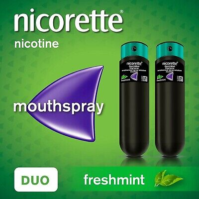 Nicorette QuickMist Mouth Spray Duo Pack, Fresh Mint, 1 mg (Stop Smoking Aid)