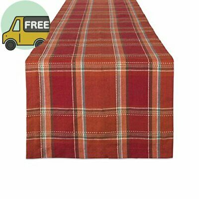 DII Cotton Table Runner Perfect for Fall, Thanksgiving, Catering Events, Dinner