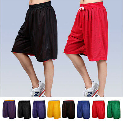 Mens Athletic Jersey 2 Pocket Mesh Shorts Gym Workout Basketball Fitness S-2Xl
