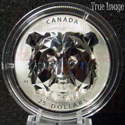 2019 Grizzly Bear - Multifaceted Animal Head #2 - $25 EHR Proof Pure Silver Coin