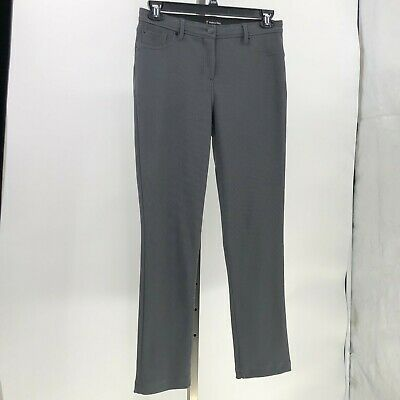 travel by Tribal pants easy travel pants gray ribbed sz 8