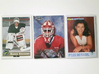 3-MANON RHEAUME Cards-1992 Classic Draft Pick+1993 UP Close+1994 Classic Assets