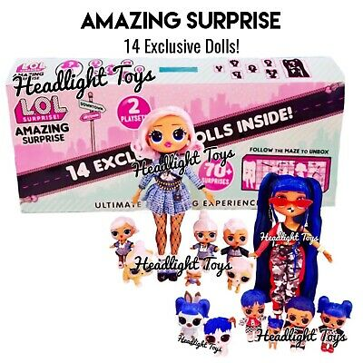 1 Day Ship - LOL AMAZING SURPRISE 14 Exclusive Dolls Winter Disco OMG Lils Pets