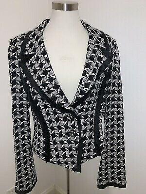 St. John Collection BLAZER Santana Knit Satin Silk Trim 10