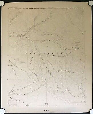 Largo Canyon, New Mexico Rare Antique 1909 USGS Topographic Map 30-minute Topo