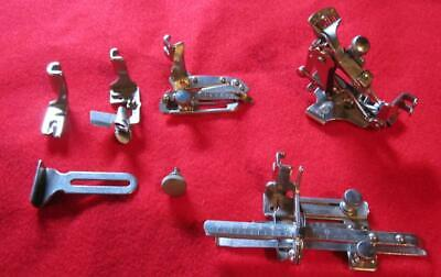 6 Vintage Singer Attachments  FEATHERWEIGHT 221 and others NO BOX
