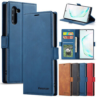 For Samsung Galaxy Note 10 Case Plus Classic Magnetic Leather Stand Wallet Cover