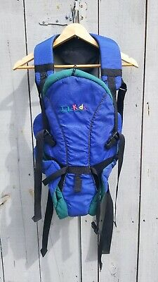 """Vintage LL Bean Infant/kid Carrier """"LL Kids"""" Blue Green Use as Baby Doll Carrier"""