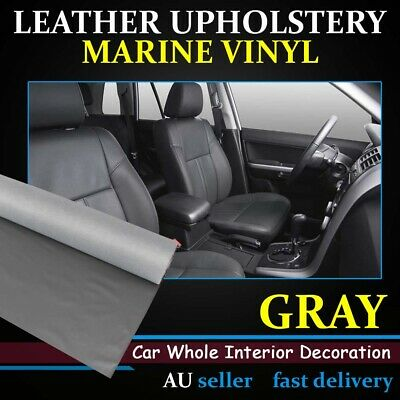 Grey Synthetic Leather Vinyl Fabric Upholstery Refit Car Boat Interior 1.4Mx1.2M