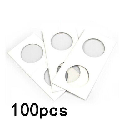 100x Collectibles Coin Holder Protectors 31mm Cardboard Flips Tools Supplies