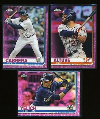 (Pick from List) 2019 Topps Chrome Pink Refractor - parallel inserts
