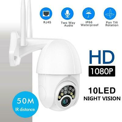 1080P HD IP66 CCTV Camera Night Vision Outdoor WiFi PTZ Security Wireless IR Cam
