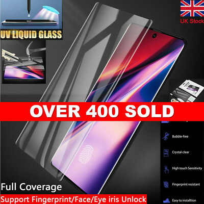 UV Glue Tempered Glass Screen Protector Samsung NOTE 10, 10 plus, S10 S9 S8 S9+