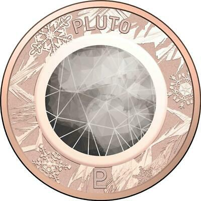 2017 Coloured One Cent Coin from Australian Planetary Coins Collection - Pluto