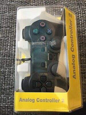 Black Dual Shock Wired Controller Analog Joypad Gamepad for PS2