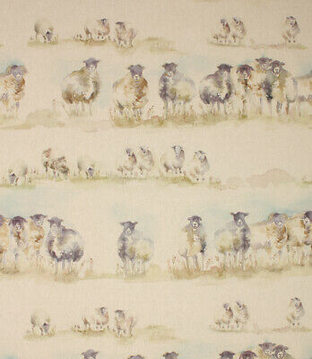 REMNANT SALE -  NEW 100cm piece Voyage Decoration Come By / Sheep Linen fabric