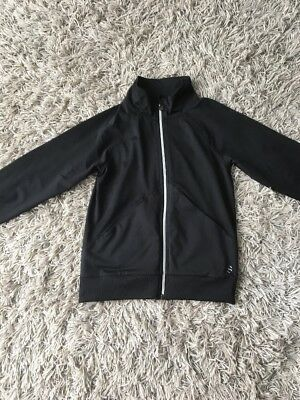 Girls H& M Black Gym Zip Up Age 10-12 Years