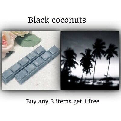 Black Coconut Designer Soy Wax Melt Snap Bar HIGHLY SCENTED-candle Wax Melts