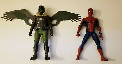 "2017 Hasbro Marvel Spider-man Homecoming Spiderman and Vulture 12"" W/Sound"