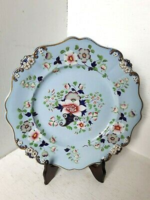 Antique 19th Century Hand Painted Plate Dish Ridgway Pottery Porcelain Victorian