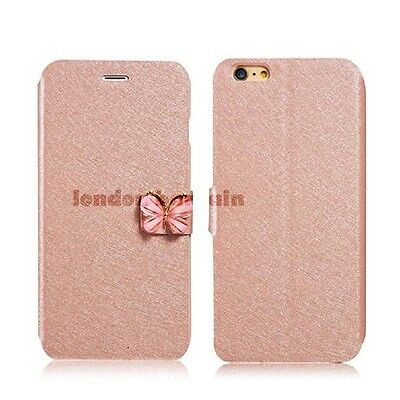 Luxury Leather Magnetic Flip Stand Glittered Wallet Case For iPhone 5 6S 6Plus
