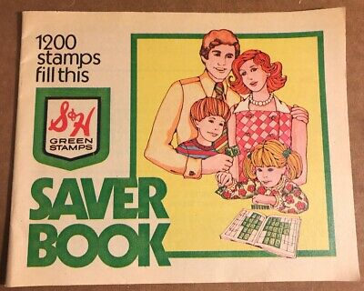 Vintage S & H Green Stamps Saver Book, New, 1200 Stamp Value