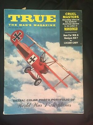 Vtg True The Mans Magazine Stories Ads Illustrations WWI Airplanes Oct 1959