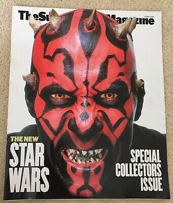 Sunday Times Magazine - 16th May 1999 Star Wars Collectors Issue - Darth Maul