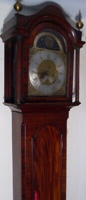 "Antique  "" Marlbro ""  Brass Moon Phase  Dial Longcase / Grandfather Clock"