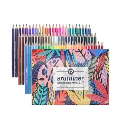 Professional Watercolor Pencils  Painting Sketching 48/72 Set Drawing Art Colore
