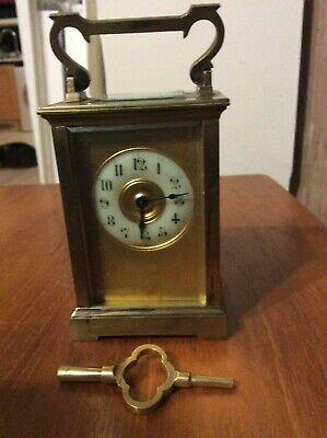Masked Dial Carriage Clock, Working Order