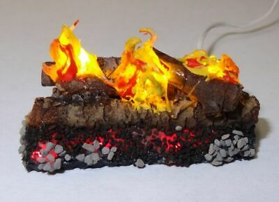 12 Volt Dollhouse Lighting Burning Fireplace Embers 1:12 Doll House Miniatures