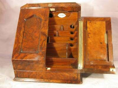 Antique Victorian Vintage Jenner Knewstub London Stationary Cabinet C1860 Box