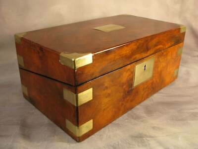 Stationary Cabinet Antique Victorian Marine Ship Officer Campaign Writing Slope